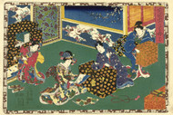 Japanese Print Chapter 17 Kunisada I by Watanabe Shoemon b Art