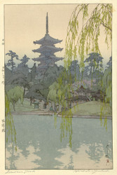 Japanese Print The Sarusawa Pond by Hiroshi Yoshida 1933 Art