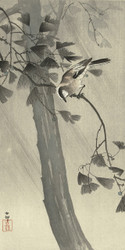 Bird in Storm by Ohara Koson Japanese Woodblock