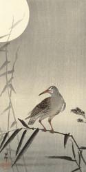 Bird on Bamboo by Ohara Koson Japanese Woodblock