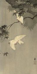 Birds in the Rain by Ohara Koson Japanese Woodblock