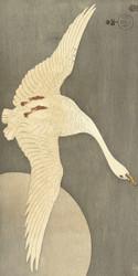 Goose at Full Moon by Ohara Koson Japanese Woodblock
