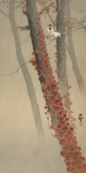 Red Ivy by Ohara Koson and Matsuki Heikichi Japanese Woodblock