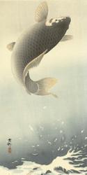 Sprouting Carp by Ohara Koson Matsuki Heikichi Japanese Woodblock