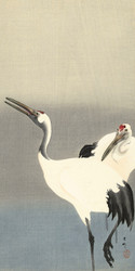 Two Cranes by Ohara Koson 1900 1930 Japanese Woodblock