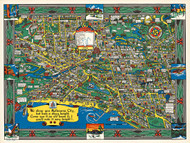 Melbourne Wonder Map 1934