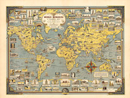 World Wonders a Pictorial Map 1939