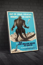 20 Million Miles to Earth 1957 Movie Poster Framed