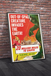 20 Million Miles To Earth 1957 II Movie Poster Framed