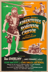 Adventures of Robinson Crusoe 1954 Movie Poster