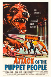 Attack of The Puppet People 1958 Movie Poster