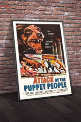 Attack of The Puppet People 1958 Movie Poster Framed