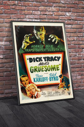 Dick Tracy Meets Gruesome 1947 Movie Poster Framed