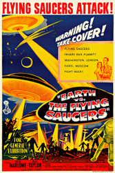 Earth vs The Flying Saucers 1956 Australian Movie Poster