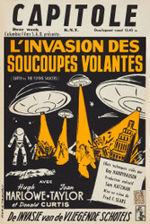 Earth vs The Flying Saucers Columbia 1956 Belgian Movie Poster
