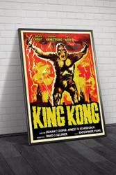 King-kong 1950s Argentinean Movie Poster Framed