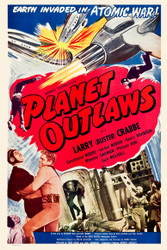 Planet Outlaws 1950s Movie Poster
