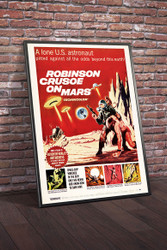 Robinson Crusoe on Mars 1964 II Movie Poster Framed