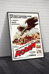 Rodan The Flying Monster 1957 Movie Poster Framed