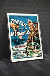 Tarzan And The Mermaids 1948 Movie Poster Framed