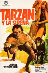 Tarzan And The Mermaids Spanish Movie Poster