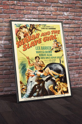 Tarzan And The Slave Girl 1950 Movie Poster Framed