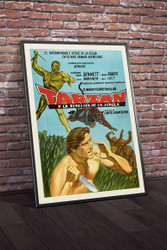 Tarzan 1960s Argentinean Movie Poster Framed