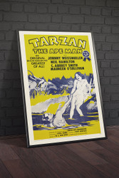 Tarzan The Ape Man 1954 Movie Poster Framed