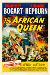 The African Queen 1952 Movie Poster