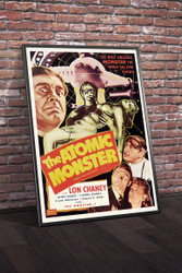 The Atomic Monster  Movie Poster Framed