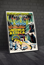 The Aztec Mummy 1960s Mexican Movie Poster Framed