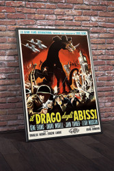 The Giant Behemoth 1960 Italian Movie Poster Movie Poster Framed