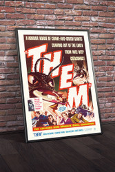 Them 1954 Movie Poster Framed