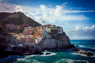 Manarola In Black And White 2 by Andrew Wilson Seascape Print