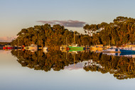 Mill Bay Reflections by Andrew Wilson Seascape Print