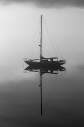 Shadowed Yacht  by Andrew Wilson Seascape Print