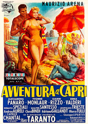 Avventura A Capri 1959 Italian Movie Poster