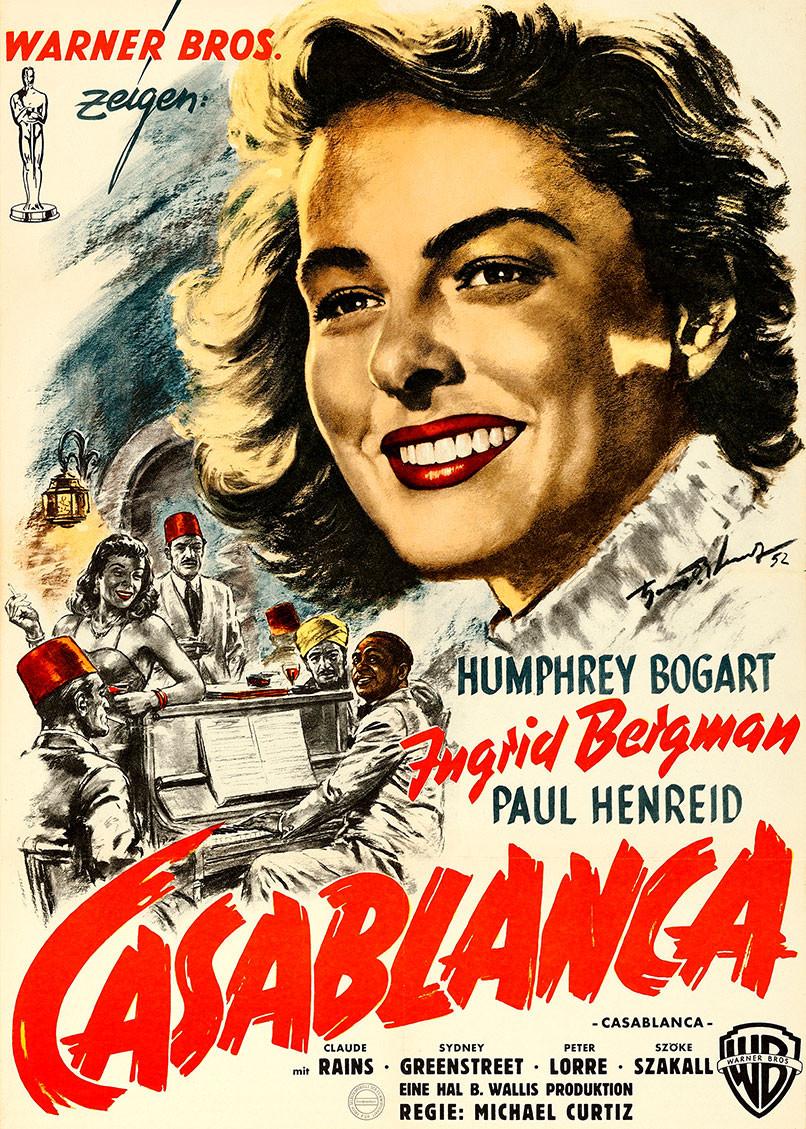 Casablanca 1945 Movie Poster