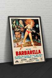 Barbarella 1968 Italian Movie Poster Framed
