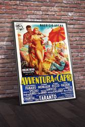Avventura A Capri 1959 Italian Movie Poster Framed