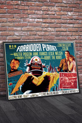 Forbidden Planet B Movie Poster Framed