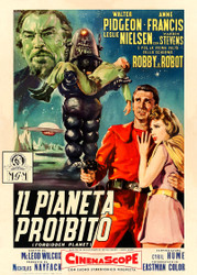 Forbidden Planet Mgm 1956  Movie Poster