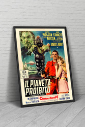 Forbidden Planet Mgm 1956  Movie Poster Framed