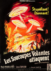 Earth Vs The Flying Saucers Columbia 1956 French Movie Poster