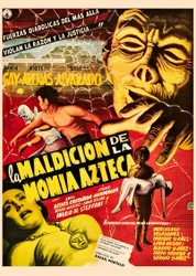 Curse Of The Aztec Mummy 1957 Mexican Movie Poster