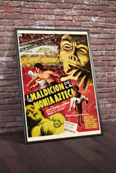 Curse Of The Aztec Mummy 1957 Mexican Movie Poster Framed