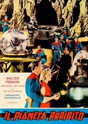 Forbidden Planet 1964 Italian Movie Poster