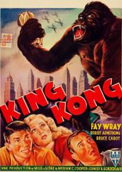 King Kong 1950s Belgian Movie Poster