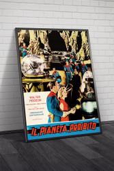 Forbidden Planet 1964 Italian Movie Poster Framed