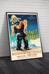 Forbidden Planet French Movie Poster Framed